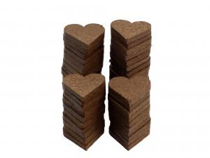Kokosfaser Herzen im 50er-Set